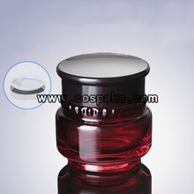 red glass bottles for 50g Facial Cream JGX22
