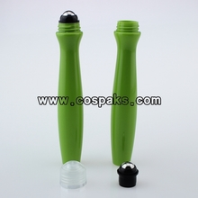 Plastic roll on bottles 15ml green