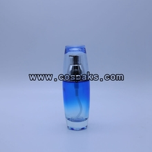 Wholesale Glass Lotion Pump Bottle Blue Body