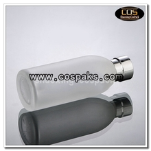 LGX20-120ml frost clear bottle with silver cap (1)
