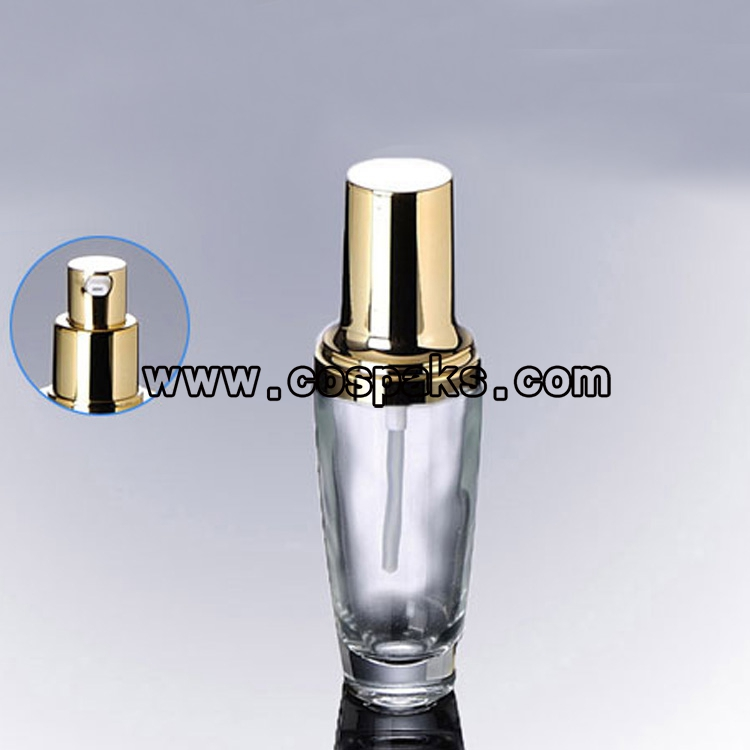 Clear Glass Pump Bottles Lgx40 30ml Glass Bottle