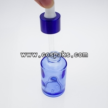 Glass Cosmetic Wholesale Blue Dropper Bottle  DB23-30ml