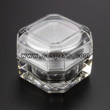 clear acrylic cosmetic jars JA106