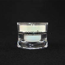 clear jar with silver cap JA92-5ml