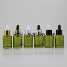 Green  Olive dropper bottle 30ml DB201