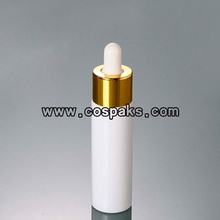 White dropper bottle with gold lid DB27-30ml