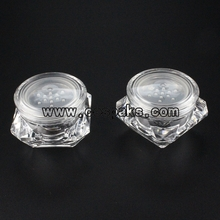 Clear loose powder jars