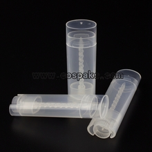 Clear Cosmetic Plastic PP Tube in Olive Shape
