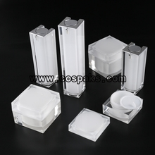 Square Acrylic Cosmetic Jars & Airless Bottles Series