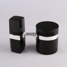 Black Packaging Acrylic Bottles & Cream Jars