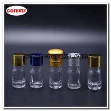 5ml Clear Glass Bottle with Essential Oil Lids