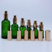 Series Green Glass Serum Pump Bottles LXG20
