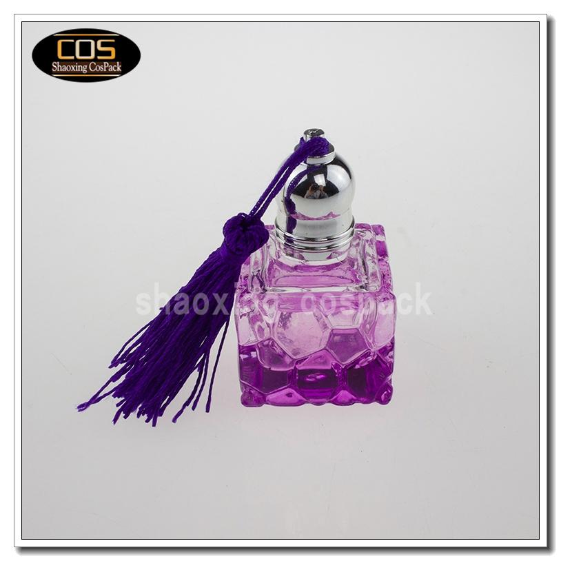 Purple Glass Perfume Bottle Deodorant Containers Cream
