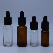 Multi-size Glass Amber or Clear Dropper Bottle