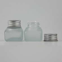 15G Square Clear Glass Jar for Cosmetic JGX50