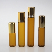 Amber 10ml Glass Roll On Bottle Cosmetic for Sale