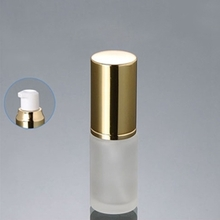 Glass Bottle with Serum Pump and Gold Lids