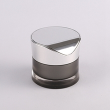 Acrylic Black and Sliver Jar Cosmetic Wholesale JA93