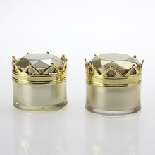 15g Empty Gold Crown Shape Cosmetic Jar