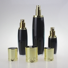 Black 120ml Empty Cosmetic Pump Bottles