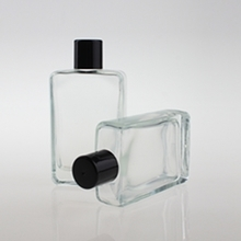 Flat Glass Liquid Foundation Bottle with Rotating Cover