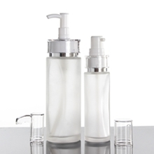 Glass Lotion Pump Bottles Cosmetic for Sale in Waist Shape