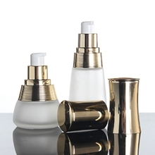 Frosted Cosmetic Packaging with Gold or Silver cap