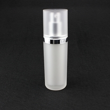 Pearl White Airless Pump Bottles in Round Shape Wholesale