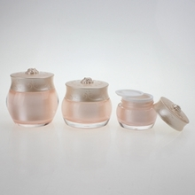 Pink Cosmetic Plastic Jars Wholesale for Cream