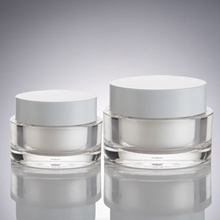 Cosmetic White Round Cream Jars in Plastic for Wholesale