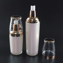 Cosmetic Wholesale Plastic Lotion Pump Bottles in White