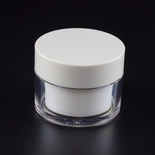 Wholesale Clear Outer Layer Jar with White Inner Pot