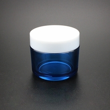 Wholesale Plastic Cream Jar in Blue of PETG Material