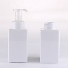 White Plastic Square Lotion Bottle with 450ml Large Capacity