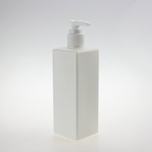 200ml Square Plastic Lotion Bottle in White or Deep Green