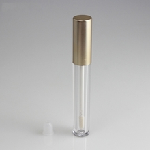 High-end New Style Lip Gloss Empty Tube with Gold Cap