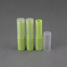 Colored Lip Balm Tube Packaging with Clear Cap