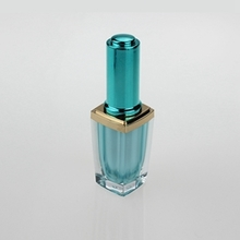 10ml Luxury Glass Nail Polish Bottles with  Colored Cap