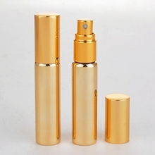 Wholesale Empty Glass Perfume Bottle in Gold or Silver 10ml