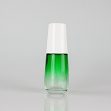 Bright Green Colored Cosmetic Lotion Pump Bottle Dispensing