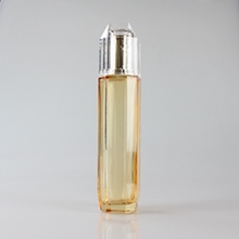 Large Capacity 130ml Glass Gold Lotion Pump Bottle Wholesale
