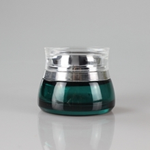 New Style Deep Green Glass Facial Cream Jar Wholesale 50g