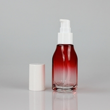 New Wine Red and White Cover Pressed Glass Lotion Bottle