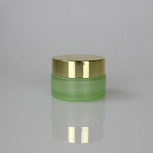 Glass Cream Green Packaging with Gold Silver or Black Cap