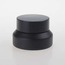 Wholesale Black Empty Cream Glass Containers