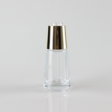 Empty 30ml Transparent with Wide Bottom and Gold Droopper
