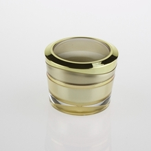Colored and Multi-size Acrylic Cosmetic Jar with Gasket