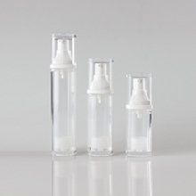 15ml 30ml 50ml Whole Clear Plastic Square Airless Bottle