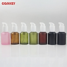60ml Colored Frosted Glass Lotion  Bottle with Outer Cover