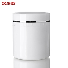 Empty 800ml White Plastic Cream Container in PET